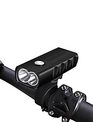 billige -LED Sykkellykter LED Lyspærer bar end lys Frontlys til sykkel LED Sykling Vanntett Bærbar Justerbar 18650 800 lm Usb DC 5V 18650 Hvit Sykling