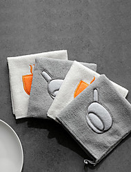 cheap -Kitchen Cleaning Supplies Bamboo Fiber Cleaning Brush & Cloth Creative Kitchen Gadget 2pcs