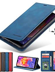Недорогие -Кейс для Назначение SSamsung Galaxy S9 / S9 Plus / S8 Plus Бумажник для карт / со стендом / Магнитный Чехол Однотонный Твердый Кожа PU