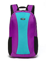 Недорогие -TULN® 25 L Легкий упаковываемый рюкзак Легкость Молния YKK Компактный Packable На открытом воздухе Пешеходный туризм Путешествия Фитнес Нейлон Фиолетовый