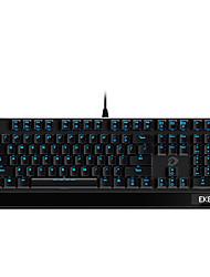 levne -dareu ek825 usb kabelová mechanická klávesnice mechanická svítící modrá podsvícená 113 ks klíčů