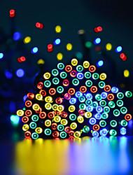 Недорогие -15 м Гирлянды 100 светодиоды 1 монтажный кронштейн Тёплый белый / Холодный белый / RGB Водонепроницаемый / Работает от солнечной энергии / Для вечеринок Солнечная энергия 1 комплект