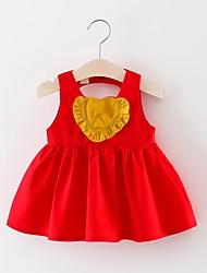 זול -שמלה ללא שרוולים לב בנות פעוטות