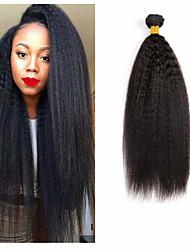 halpa -3 pakettia Brasilialainen Yaki Straight Remy-hius Hiukset kutoo Pidentäjä Bundle Hair 8-28 inch Luonnollinen väri Hiukset kutoo Pehmeä Klassinen Lovely Hiukset Extensions Naisten