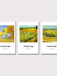 tanie -Nadruk Zwijane wydruki na płótnie - Sławne Krajobraz Klasyczny Trzy panele