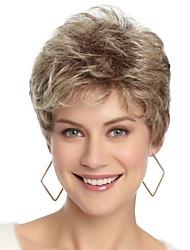 Недорогие -Парики из искусственных волос Чёлки Кудрявый Стиль Свободная часть Без шапочки-основы Парик Золотистый Светло-золотой Искусственные волосы 12 дюймовый Жен. Модный дизайн Женский синтетический