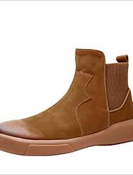 Χαμηλού Κόστους -Ανδρικά Μπότες Μάχης Δέρμα Άνοιξη Μπότες Καφέ