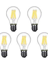 Недорогие -5 шт. 5 W Круглые LED лампы LED лампы накаливания 550 lm E26 / E27 A60(A19) 8 Светодиодные бусины Высокомощный LED Декоративная Тёплый белый 220-240 V 220 V 230 V / RoHs