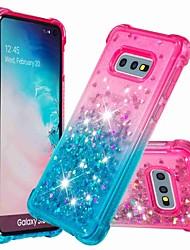voordelige -hoesje Voor Samsung Galaxy S9 Plus / S8 Plus Schokbestendig / Stromende vloeistof Achterkant Glitterglans / Kleurgradatie Zacht TPU voor S9 / S9 Plus / S8 Plus