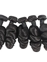 economico -6 pacchi Brasiliano Onda sciolta capelli naturali Remy Ciocche a onde capelli veri Bundle di capelli Un pacchetto di soluzioni 8-28inch Colore Naturale Tessiture capelli umani Neonato Cascata Carino