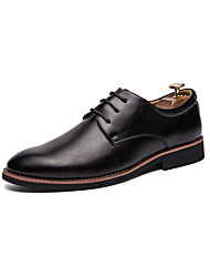 cheap -Men's Comfort Shoes Faux Leather Spring & Summer Casual / British Oxfords Breathable White / Black / Brown / Tassel / Party & Evening