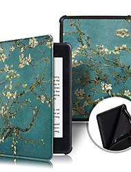 Недорогие -Кейс для Назначение Amazon Kindle PaperWhite 4 2018 Защита от удара / Флип / Оригами Чехол Цветы Твердый Кожа PU