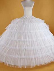 Недорогие -Невеста Classic Lolita 1950-е года Платья Нижняя юбка Кринолин Жен. Девочки Костюм Белый Винтаж Косплей Спандекс Для вечеринок Выступление Макси Принцесса