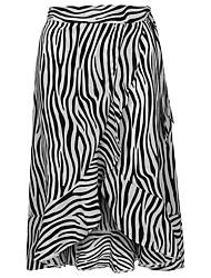 זול -פסים - חצאיות נדנדה סגנון רחוב בגדי ריקוד נשים