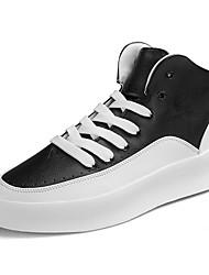 abordables -Hombre Zapatos de hip hop y baile callejero PU Zapatilla Tacón Plano Zapatos de baile Negro / Rojo / Negro / Blanco