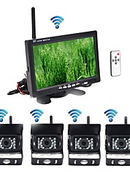 Недорогие -BYNCG rear view camera 7 дюймовый TFT-LCD 600TVL 480 ТВ линий / 600 ТВ линий 1/4 дюйма CMOS OV7950 Беспроводное 120° 7 дюймовый