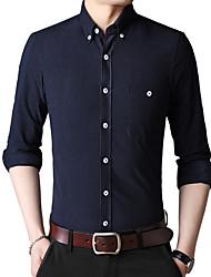cheap -Men's Shirt - Solid Colored Camel XXXL