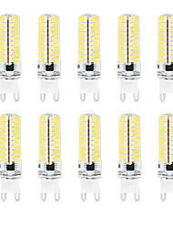 Недорогие -HKV 10 шт. 4.5 W Двухштырьковые LED лампы 350-450 lm G9 T 72 Светодиодные бусины SMD 2835 Водонепроницаемый Диммируемая Декоративная Тёплый белый Холодный белый Естественный белый 220-240 V 110-130 V