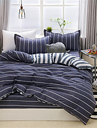 ieftine -Seturi Duvet Cover Dungi / Ripples / Contemporan Poliester Imprimat 4 PieseBedding Sets