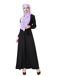 tanie -Damskie Swing Abaya Jalabiya Sukienka - Solidne kolory Midi