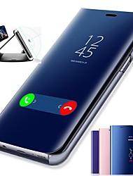 Недорогие -Кейс для Назначение Huawei Huawei P20 / Huawei P20 Pro / Huawei P20 lite Кошелек Чехол Однотонный Твердый ПК