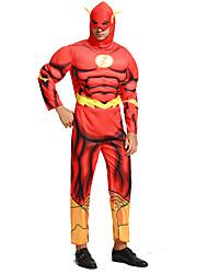 preiswerte -Superheld Cosplay Kostüme Erwachsene Herrn Cosplay Halloween Halloween Karneval Maskerade Fest / Feiertage Polyester Rote Karneval Kostüme Print