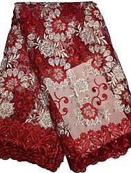 preiswerte -Afrikanische Spitze Blumen Muster 125 cm Breite Stoff für Bekleidung und Mode verkauft bis zum Yard