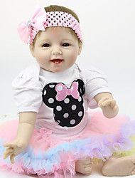 cheap -FeelWind Reborn Doll Baby Boy Baby Girl 22 inch Silicone - Kids / Teen Adorable Lovely Kid's Unisex Toy Gift