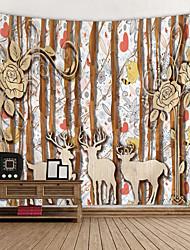 abordables -Tema Jardín Decoración de la pared 100% Poliéster Modern Arte de la pared, Tapices de pared Decoración