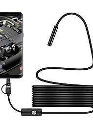 Недорогие -7 мм объектив промышленного эндоскопа 3 в 1 usb эндоскоп водонепроницаемый ip67 жесткий проводной бороскоп камера осмотра змея видеокамера с 6 светодиодов для android pc