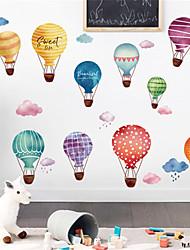 Недорогие -мультфильм воздушный шар самоклеющиеся наклейки на стены детский сад общежитие бесплатные наклейки детская комната украшения стены спальни