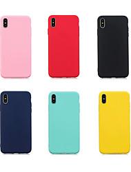 Недорогие -чехол для яблока iphone xr / iphone xs max ультратонкая задняя крышка сплошной цветной мягкий чехол для iphone 6 / 6s / iphone 6 / 6s plus / iphone 7/8 / iphone 7/8 plus / iphone x / xs / iphone xr /