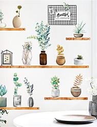 Недорогие -nordic fresh ins wind растение в горшке наклейки на стену гостиная диван крыльцо фон украшения стены наклейки самоклеющиеся фото