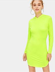 رخيصةأون -فستان نسائي A line أنيق قصير جداً لون سادة