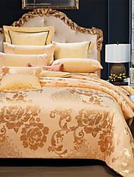 levne -Povlečení Jednobarevné / Luxus Bavlna Žakár 4 kusyBedding Sets