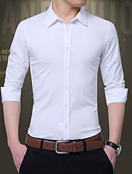 رخيصةأون -رجالي قميص بقع لون سادة أسود XXXL