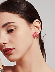 baratos -Mulheres Vermelho Branco Clássico Conjunto de jóias Pérola Estiloso Incluir Brincos Curtos Anel Branco / Vermelho Para Festa Diário