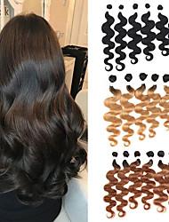 levne -6 svazků Brazilské vlasy Vlnité Remy vlasy Lidské vlasy Vazby Tónované Bundle Hair 8-24 inch Lidské vlasy Vazby Měkký povrch rozšířením Nejlepší kvalita Rozšíření lidský vlas Dámské