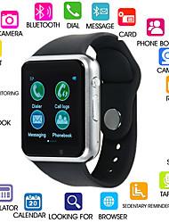 Недорогие -Kimlink A1S Женский Смарт Часы Android Bluetooth Сенсорный экран Израсходовано калорий Хендс-фри звонки FM-радио Фотоаппарат / Педометр / Напоминание о звонке / 0.3 мегапикс.