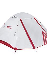 Недорогие -MOBI GARDEN 3 человека Семейный кемпинг-палатка На открытом воздухе С защитой от ветра Дожденепроницаемый Воздухопроницаемость Двухслойные зонты Карниза Палатка 2000-3000 mm для
