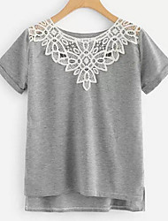 cheap -Women's T-shirt - Solid Colored Gray M