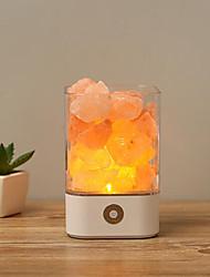 hesapli -1 adet usb kristal ışık doğal himalayan tuz lambası hava temizleyici ruh yaratıcısı için kapalı sıcak ışık masa lambası yatak odası lav lambası