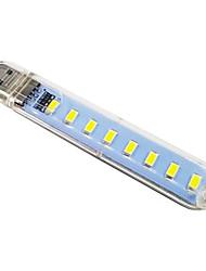 Χαμηλού Κόστους -1pc LED νύχτα φως / Φως βιβλίου Θερμό Λευκό / Ψυχρό Λευκό USB Εύκολη μεταφορά / Με θύρα USB