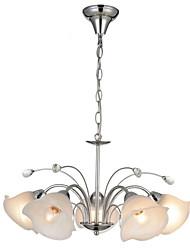 baratos -5-luz Sputnik Lustres Luz Superior Cromado Metal Vidro Ajustável 110-120V / 220-240V