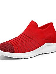 abordables -Homme Chaussures de confort Tissu élastique / Tissage Volant Printemps Simple Mocassins et Chaussons+D6148 Ne glisse pas Blanc / Noir / Rouge