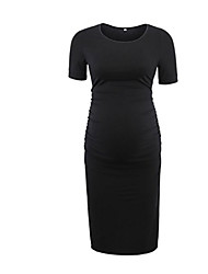 お買い得  -女性の膝丈のシースドレスアーミーグリーンレッドブラックs m l xl