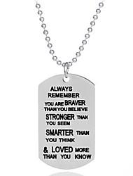 preiswerte -Damen Klar Geometrisch Halskette Modisch Cool Silber 30 cm Modische Halsketten Schmuck 1pc Für Alltag