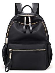 رخيصةأون -نسائي أكياس نايلون حقيبة ظهر سحاب لون الصلبة أسود