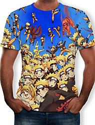 billiga -Game of Thrones Cosplay T-shirt Herr Dam Film-cosplay Blå T-shirt Halloween Terylen