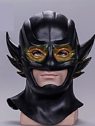 preiswerte -Superheld Cosplay Kostüme Erwachsene Herrn Cosplay Halloween Halloween Karneval Maskerade Fest / Feiertage PVC Schwarz Karneval Kostüme Einfarbig